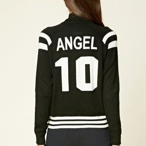 NWT BLACK IVORY SWEATER KNIT JACKET ZIP ANGEL TOP